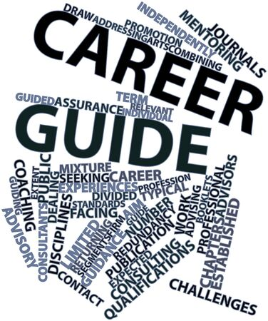 Abstract word cloud for Career guide with related tags and terms Stock Photo - 17148958