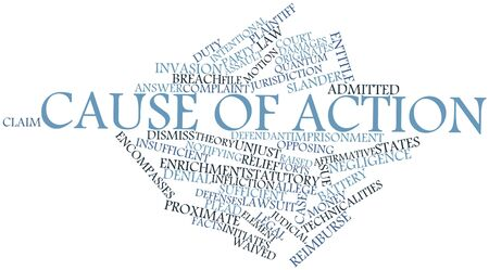 plaintiff: Abstract word cloud for Cause of action with related tags and terms