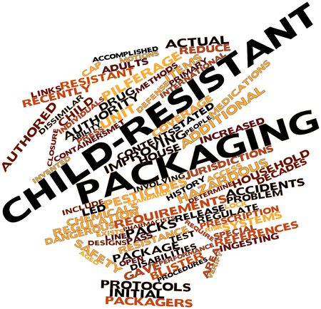 additional chemicals: Abstract word cloud for Child-resistant packaging with related tags and terms
