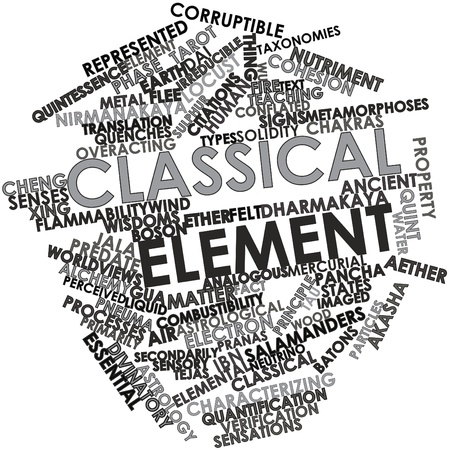 neutrino: Abstract word cloud for Classical element with related tags and terms