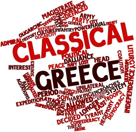 Abstract word cloud for Classical Greece with related tags and terms