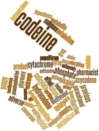 salicylate: Abstract word cloud for Codeine with related tags and terms Stock Photo