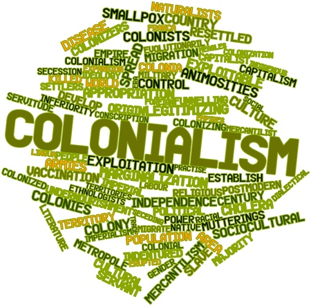 cholera: Abstract word cloud for Colonialism with related tags and terms