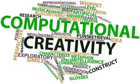 Abstract word cloud for Computational creativity with related tags and terms photo