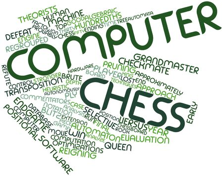 Abstract word cloud for Computer chess with related tags and terms Stock Photo - 17142013