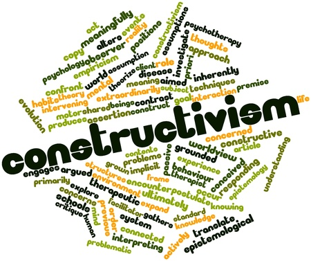 critique: Abstract word cloud for Constructivism with related tags and terms Stock Photo