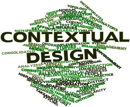 contextual: Nube de palabras abstracto para el dise�o contextual con las etiquetas y t�rminos relacionados