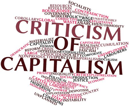 object oppression: Abstract word cloud for Criticism of capitalism with related tags and terms
