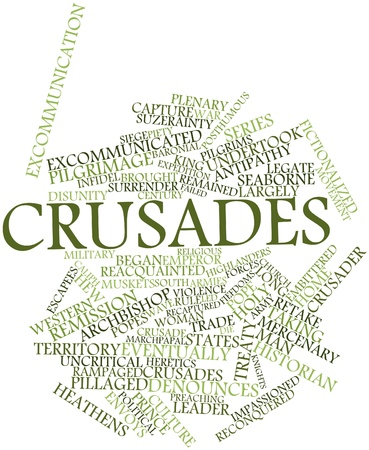 crusades: Abstract word cloud for Crusades with related tags and terms