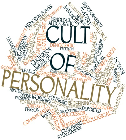 adulation: Abstract word cloud for Cult of personality with related tags and terms