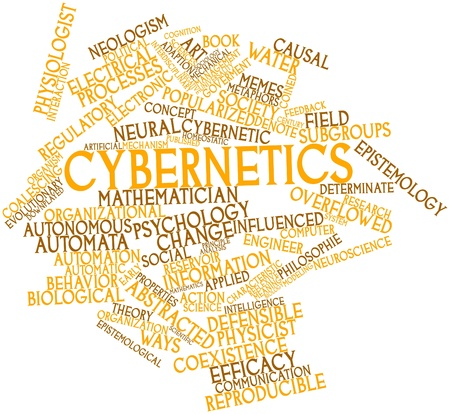 epistemology: Abstract word cloud for Cybernetics with related tags and terms Stock Photo