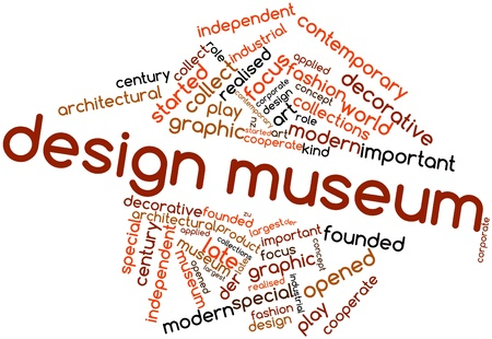 Abstract word cloud for Design museum with related tags and terms Stock Photo - 17141846