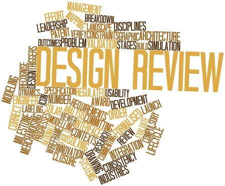 rationale: Abstract word cloud for Design review with related tags and terms