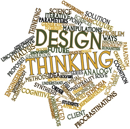 epistemology: Abstract word cloud for Design thinking with related tags and terms
