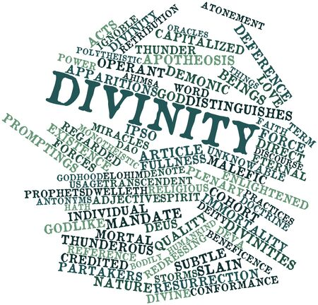 Abstract word cloud for Divinity with related tags and terms Stock Photo - 17149311