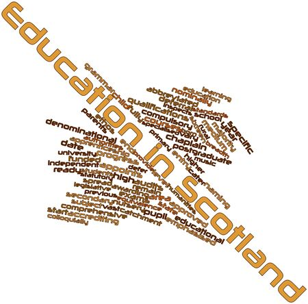 vested: Abstract word cloud for Education in Scotland with related tags and terms