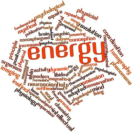 dynamic activity: Abstract word cloud for Energy with related tags and terms Stock Photo