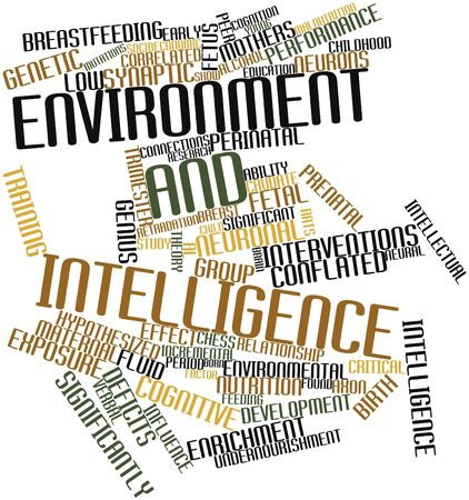 Abstract word cloud for Environment and intelligence with related tags and terms Stock Photo - 17148868