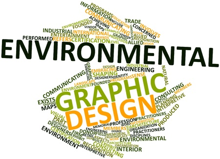 allied: Abstract word cloud for Environmental graphic design with related tags and terms