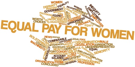 comparable: Abstract word cloud for Equal pay for women with related tags and terms