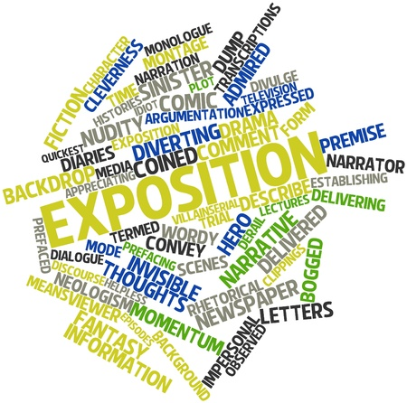 Abstract word cloud for Exposition with related tags and terms Stock Photo - 17148821
