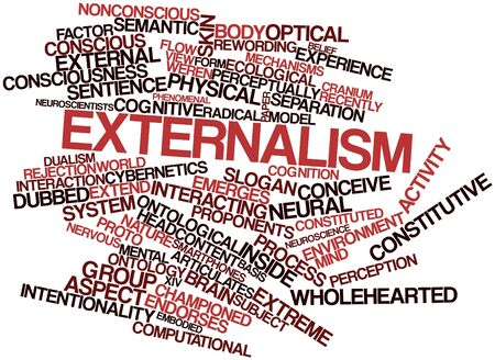 Abstract word cloud for Externalism with related tags and terms Stock Photo - 17148917