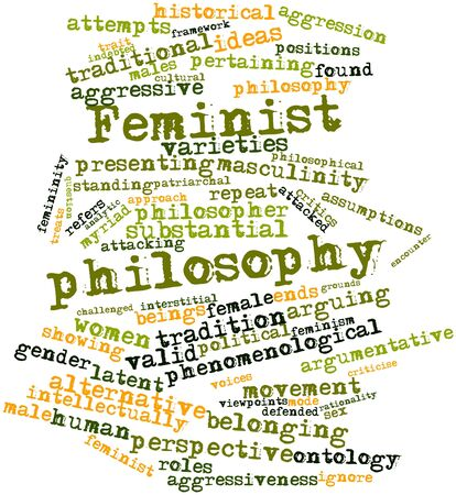 Abstract word cloud for Feminist philosophy with related tags and terms Stock Photo - 17149207