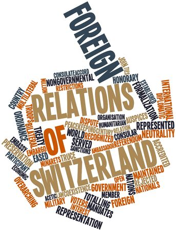 ordinance: Abstract word cloud for Foreign relations of Switzerland with related tags and terms