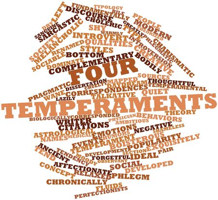 Abstract word cloud for Four temperaments with related tags and terms Stock Photo - 17148915