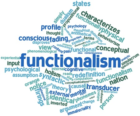 Abstract word cloud for Functionalism with related tags and terms