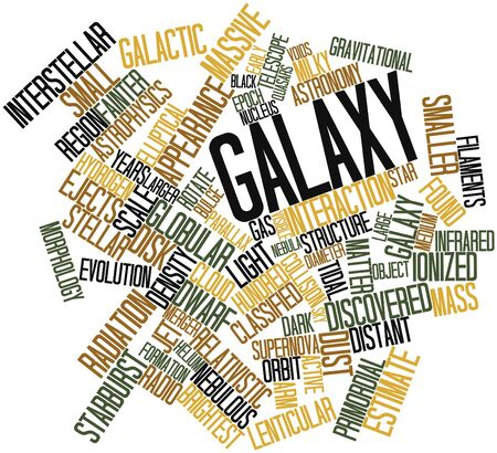 discovered: Abstract word cloud for Galaxy with related tags and terms Stock Photo