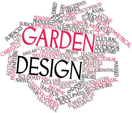 path cottage garden: Abstract word cloud for Garden design with related tags and terms