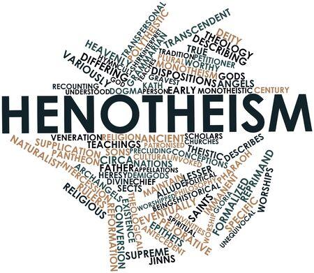 dispositions: Nube palabra abstracta para Henote�smo con etiquetas y t�rminos relacionados