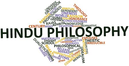 advocated: Abstract word cloud for Hindu philosophy with related tags and terms