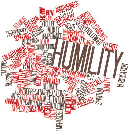 humility: Abstract word cloud for Humility with related tags and terms Stock Photo