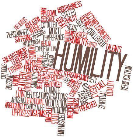 humildad: Nube palabra abstracta para Humildad con etiquetas y t�rminos relacionados