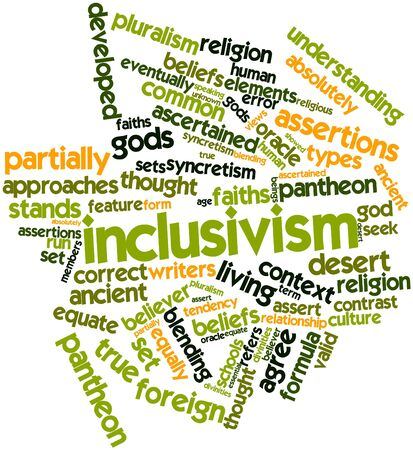 Abstract word cloud for Inclusivism with related tags and terms Stock Photo - 17148740