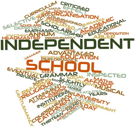 upper school: Abstract word cloud for Independent school with related tags and terms