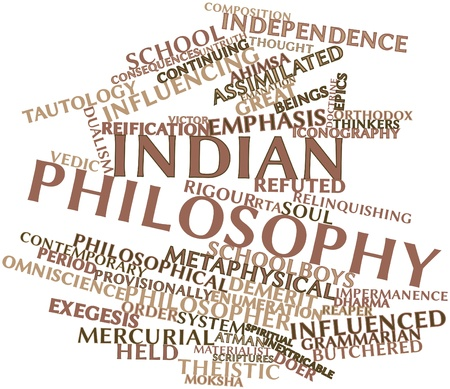ahimsa: Abstract word cloud for Indian philosophy with related tags and terms