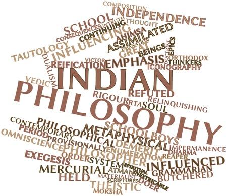 dualism: Nube de palabras abstracto para la filosof�a india con las etiquetas y t�rminos relacionados