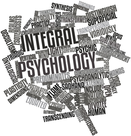 thinkers: Abstract word cloud for Integral psychology with related tags and terms