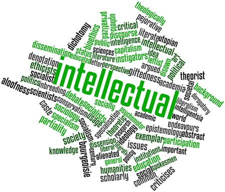 Abstract word cloud for Intellectual with related tags and terms Stock Photo - 17149253