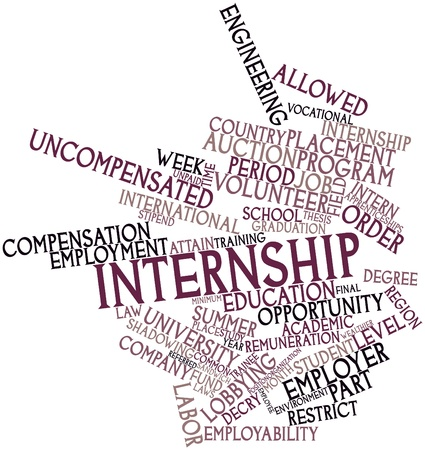 regulated: Abstract word cloud for Internship with related tags and terms Stock Photo