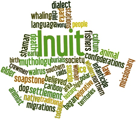 Abstract word cloud for Inuit with related tags and terms Stock Photo - 17147631