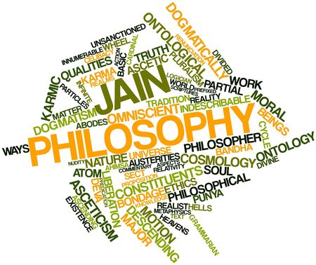 Abstract word cloud for Jain philosophy with related tags and terms Stock Photo - 17142110