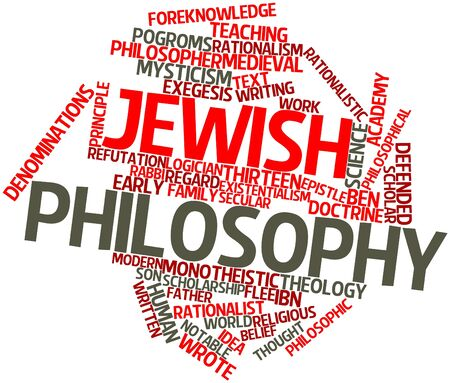existentialism: Abstract word cloud for Jewish philosophy with related tags and terms