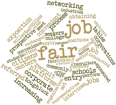 career entry: Abstract word cloud for Job fair with related tags and terms