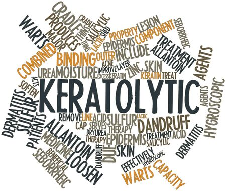 effectively: Abstract word cloud for Keratolytic with related tags and terms