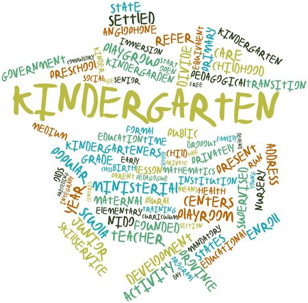pedagogical: Abstract word cloud for Kindergarten with related tags and terms