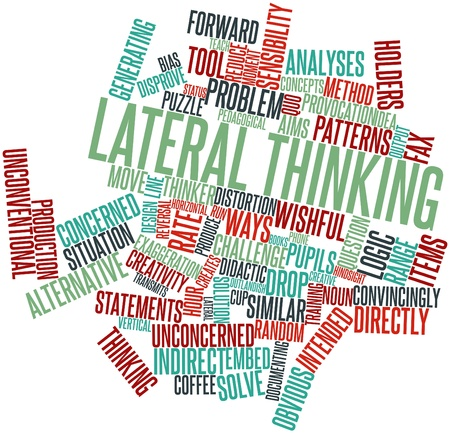 constraints: Abstract word cloud for Lateral thinking with related tags and terms